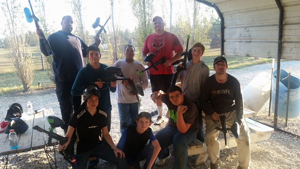 Players at Arkansas Paintball Park